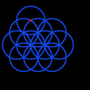Anleitung: Blume des Lebens zeichnen Kreis 11