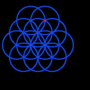 Anleitung: Blume des Lebens zeichnen Kreis 12