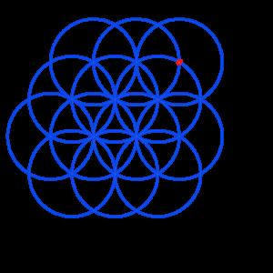 Anleitung: Blume des Lebens zeichnen Kreis 13