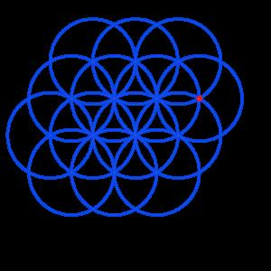 Anleitung: Blume des Lebens zeichnen Kreis 14