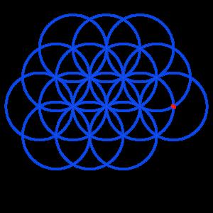 Anleitung: Blume des Lebens zeichnen Kreis 15