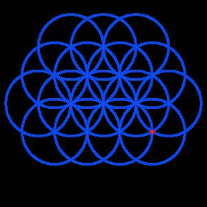 Anleitung: Blume des Lebens zeichnen Kreis 16