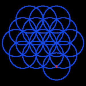 Anleitung: Blume des Lebens zeichnen Kreis 17