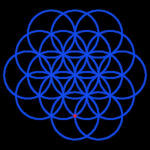 Anleitung: Blume des Lebens zeichnen Kreis 18