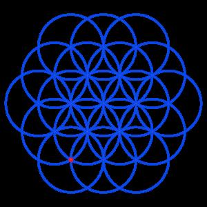 Anleitung: Blume des Lebens zeichnen Kreis 19Zirkelblume Kreisblume Kreismuster Zirkelmuster Lebensblume Blume des Lebens