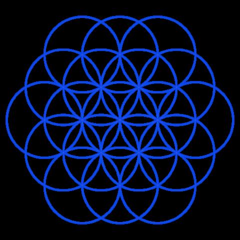 Zirkelblume, Kreisblume, Kreismuster, Zirkelmuster, Lebensblume, Blume des Lebens