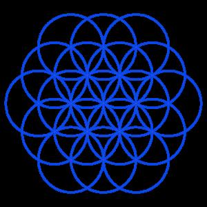Anleitung: Blume des Lebens zeichnen Zirkelblume Kreisblume Kreismuster Zirkelmuster Lebensblume Blume des Lebens