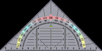 Bild von einem Geodreieck