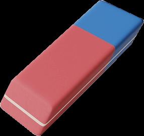 Bild von einem Radiergummi