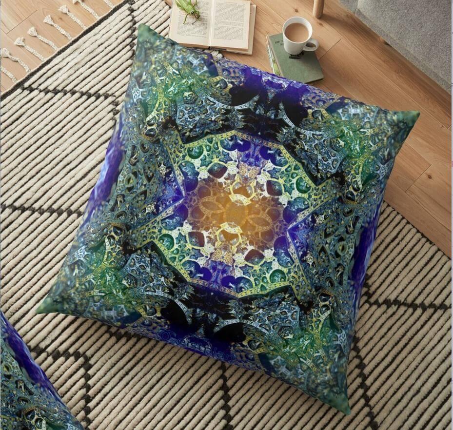 Mandala der Zufriedenheit als Kissen