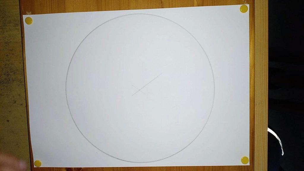 Bild von einem Kreis, welcher mit einem Zirkel gezeichnet wurde