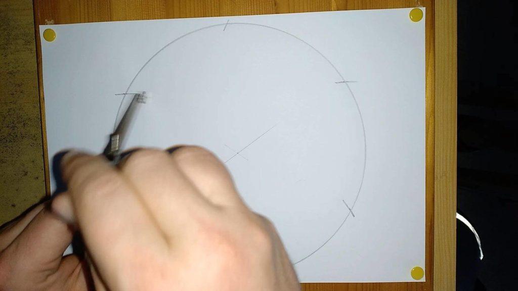 Bild von einem Kreis mit Markierungen