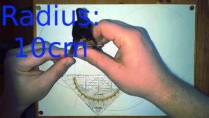Radius 10cm Zirkel einstellen