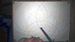 alle äußeren Ringe werden mit 10cm Radius nachgezogen Anleitung: einen keltischen Knoten zeichnen