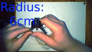 Bild Zirkel Radius: neuer Radius 6cm