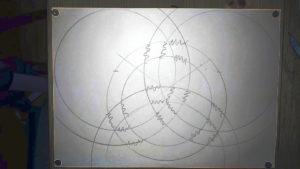 Kreis Ringe mit Zickzack Linien als Hilfskonstruktion Anleitung: einen keltischen Knoten zeichnen