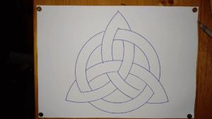 Keltischer Knoten ist nun fertig! Anleitung: einen keltischen Knoten zeichnen