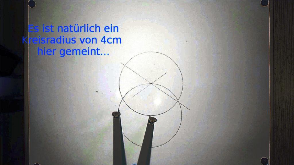 Bild von eine Zirkel, welcher einen zweiten Kreis zeichnet