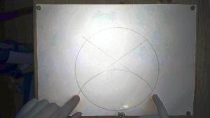 Bild zwei Schnitt punkte zweier Kreise