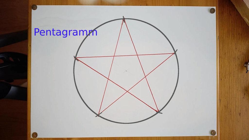 Bild von einem gezeichneten Pentagram