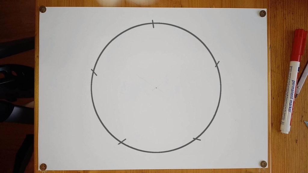 Kreis mit fünf Markierungen Anleitung - ein Pentagramm oder Fünfeck zeichnen