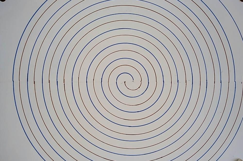 Bild von einer großen Archimedischen Spirale