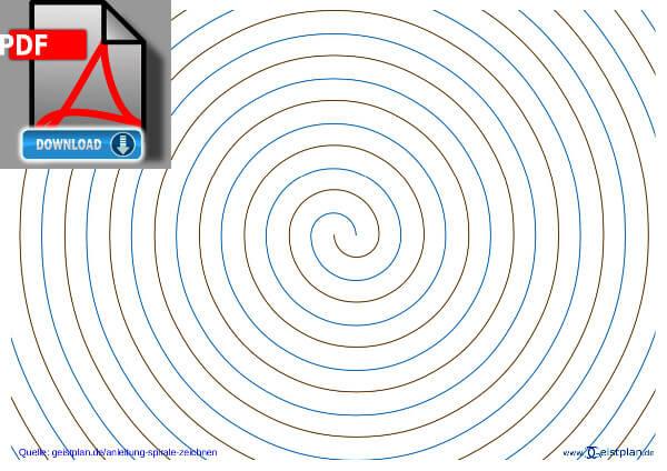 Vorschaublid für PDF, fertige Spirale ohne Hilfslinien