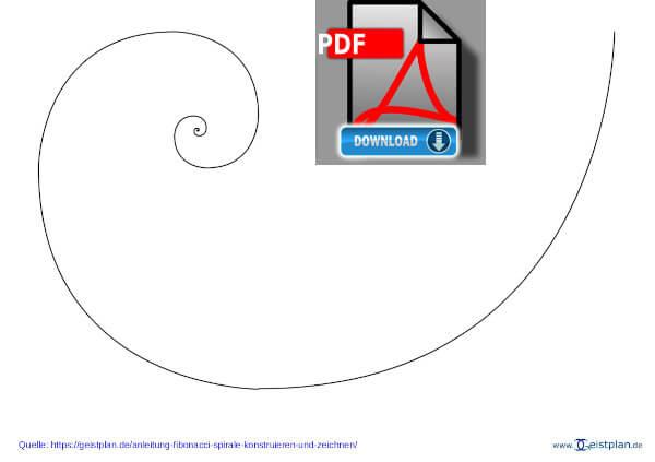 Anleitung: eine Fibonacci Spirale konstruieren und zeichnen PDF Download zum ausdrucken