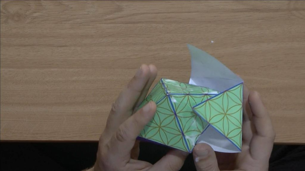 Geistplan Anleitung Oktaeder Pyramide basteln Anleitung