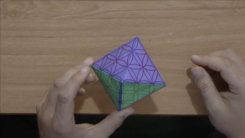 Gebastelter Oktaeder ist fertig